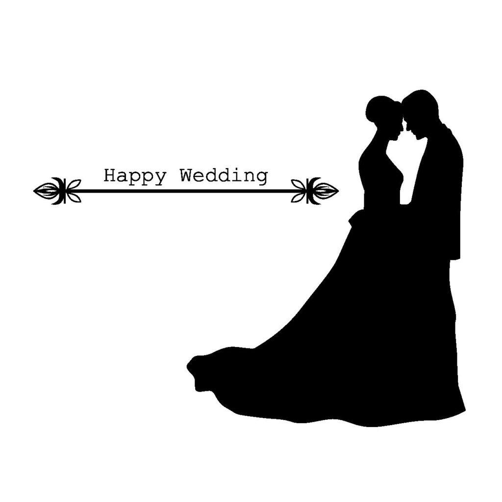 結婚式シルエットフリー素材