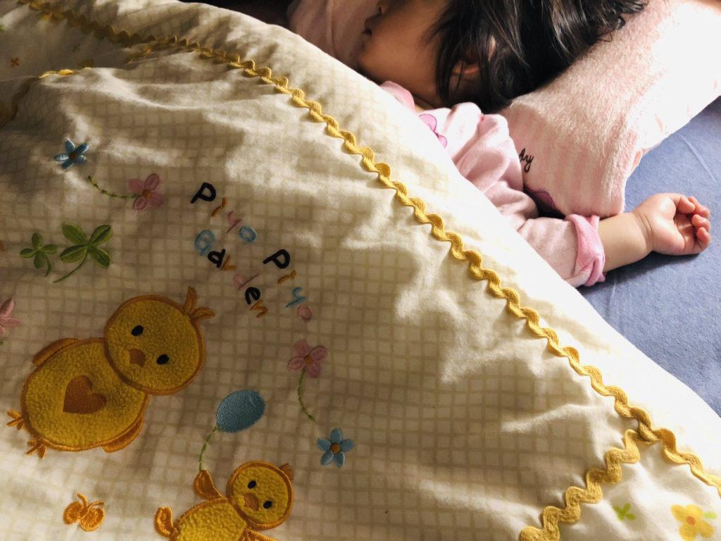 子供の昼寝中に在宅ワーク