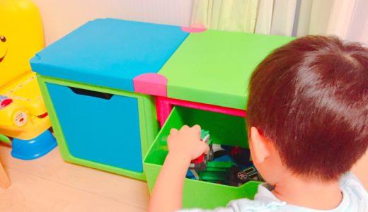 海外風のおもちゃ箱がおしゃれ!机やイスにもなる「ブロックBOX」の口コミレビュー