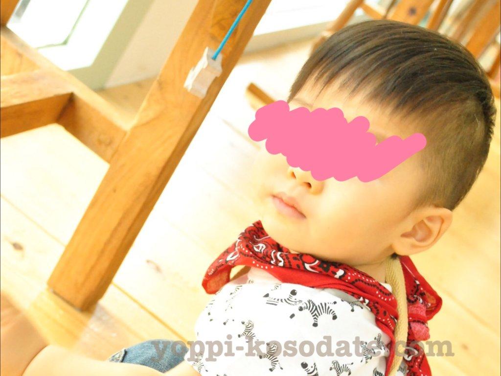1歳の男の子をバリカンでセルフカット