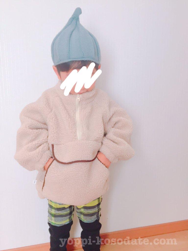 4歳男の子の冬コーデ