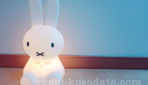 寝室用ミッフィーライトの口コミブログ。夜中の授乳おむつ交換にめっちゃ便利[PR]