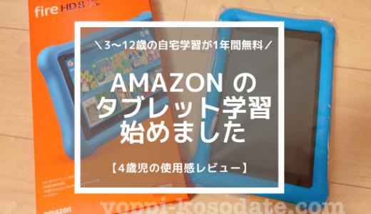 4歳のタブレット学習にAmazon FreeTime Unlimitedを選んだ理由【口コミ】