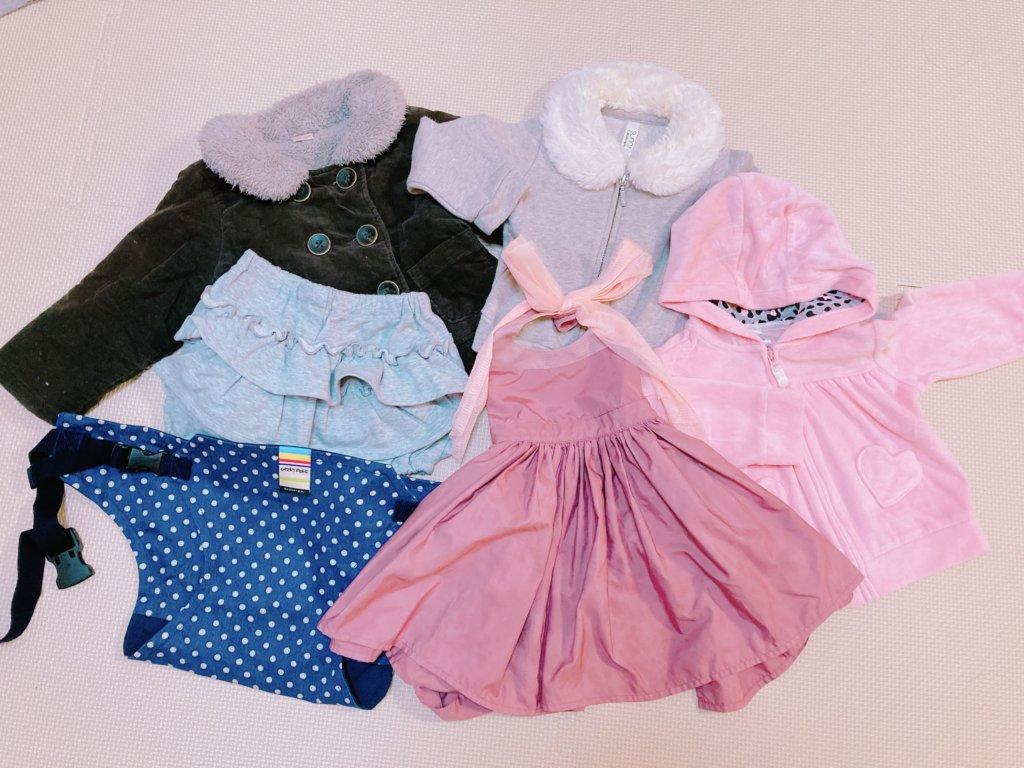 子供服のキャリーオンで購入した女の子用の服